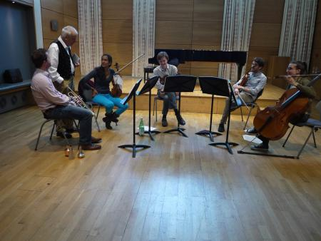 Photo: Workshop with Sir Peter Maxwell Davies